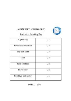 Anniversaire - invitation writing