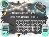 Anniversaires de classe avec pots mason et lucioles