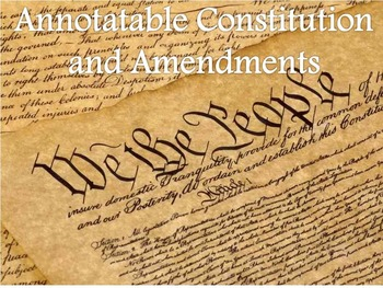 Annotatable Constitution with Amendments