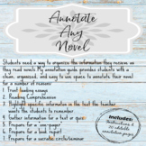 Annotate your Novel or Article