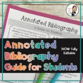 Annotated Bibliography Editable Handout