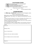 Annotated Bibliography Handout