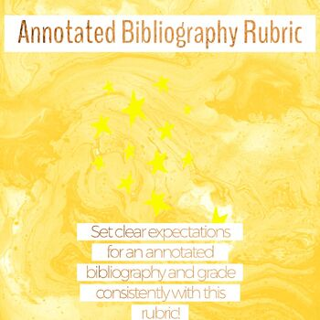 Annotated Bibliography Rubric