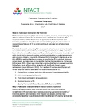 Annotated Bibliography of Professional Development