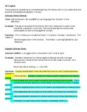AP Lit Annotated Glossary of Lit Terms Instructions