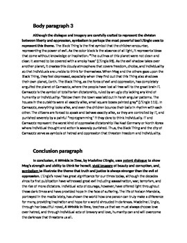 Annotated Literary Essay