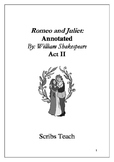 Annotated Romeo and Juliet ACT TWO