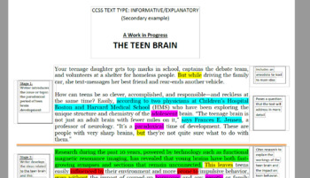 Annotated Sample Informative/Explanatory Essay