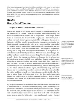"""Annotated """"Walden"""" by Henry David Thoreau"""