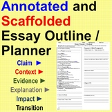 Annotated and Scaffolded Essay Outline / Planner
