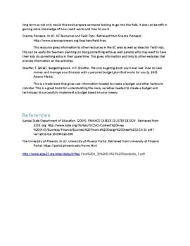 Annotated bibliography Great Resources for Business Education