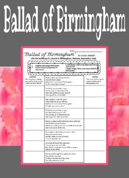 "Annotating & Analyzing ""Ballad of Birmingham"""