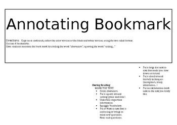 Annotating Bookmark