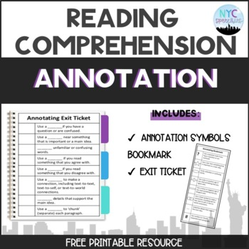 Annotating Bookmark and Exit Ticket