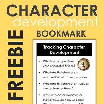 Annotating Characterization Bookmark FREEBIE