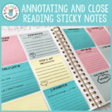 Annotating & Close Reading Printable Sticky Notes