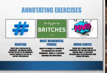 Annotating Exercise - Differentiated