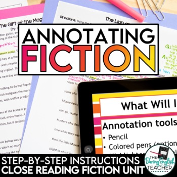 Annotating Fiction Made Easy - CCSS aligned