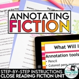 Annotating Made Easy FICTION - CCSS aligned