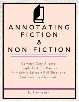 Annotating Fiction and Non-Fiction