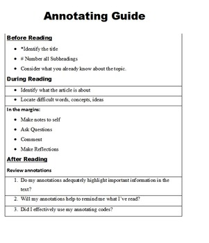 Annotating Guide Poster