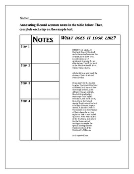 Annotating Lesson with Resources
