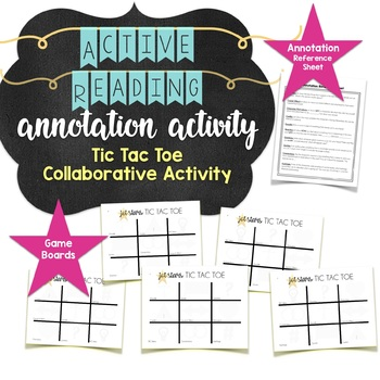 Annotating Practice Activity Tic Tac Toe Partner Game