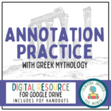 Annotating Practice with Greek Mythology: Google Drive & P
