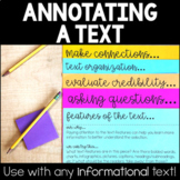 Annotating Text Stations - Annotating Informational Texts