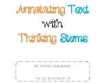 Annotating Text with Thinking Stems