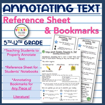 Annotating/Annotations-Reference Sheet, Bookmark for ANY P