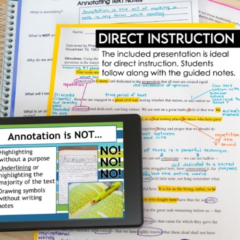 Annotating Made Easy (nonfiction): step-by-step annotation & close reading
