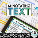 Annotating Text (nonfiction): step-by-step text annotation