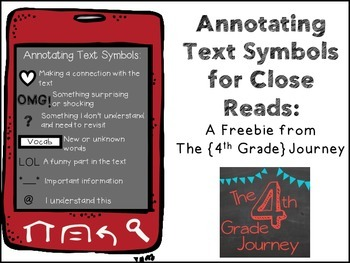 Annotating Text Symbols Cell Phones {FREEBIE}