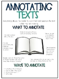 Annotating Texts Anchor Chart
