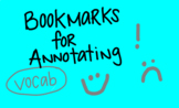 Annotating Texts Bookmarks
