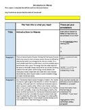 Annotating Texts: Waves Introduction