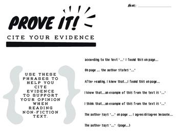 Prove it! Cite your Sources