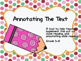 Annotating The Text Freebie