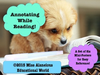 Annotating While Reading and Writing: Easy Reference Mini-