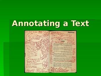 Annotating a Text
