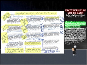 Annotating a text - Interactive Powerpoint Animated Adventure