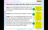 Annotating and analyzing poetry - 2 lessons to introduce t