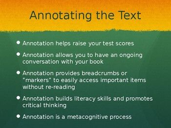 Annotating the Text: An Ongoing Conversation