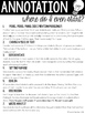 Annotation Guide for the Elementary Classroom FREEBIE