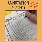 Annotation Academy- Materials for Secondary English Back t