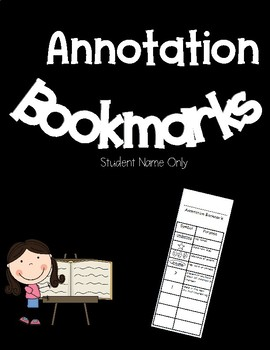 Annotation Bookmark with Editable Fields
