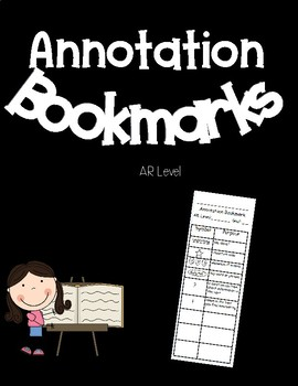 Annotation Bookmark with Editable Fields (AR Level and Goal)