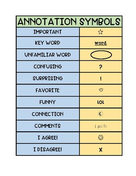 Annotation Bookmarks and Handout