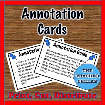 Annotation Cards - A Guide for Annotating Literature!
